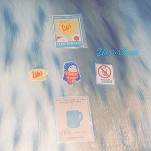 Homemade Gilmore Girl's Stickers